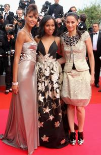 Noemie Lenoir, Kerry Washington and Guest at the premiere of