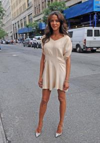 Noemie Lenoir at the taping of