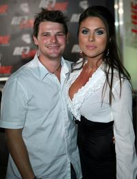 Nathan Phillips and Nadia Bjorlin at the Wyclef Jeans performance in support of