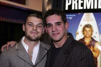 Nathan Phillips and Clayton Watson at the premiere of