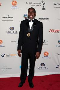 Lazaro Ramos at the 35th International Emmy Awards Gala.