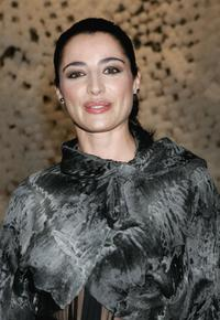 Luisa Ranieri at the Fendi Party celebrating the Loris Cecchini