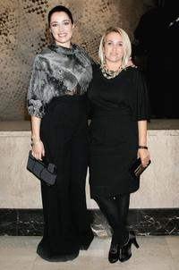 Silvia Fendi and Luisa Ranieri at the Fendi Party celebrating the Loris Cecchini