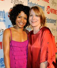 Rose Rollins and Laurel Holloman at the Showtime's farewell party for