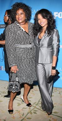Loretta Devine and Keesha Sharp at the 39th NAACP Image Awards.