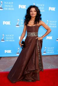 Keesha Sharp at the 39th NAACP Image Awards.