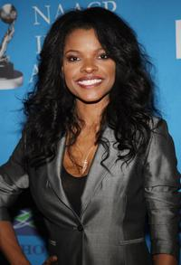 Keesha Sharp at the 39th NAACP Image Awards Nominee Luncheon.