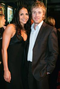 Miriama Smith and Travis McMahon at the world premiere of