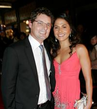 Paul Ellis and Miriama Smith at the Qantas New Zealand Television Awards.