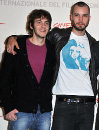 Alessandro Sperduti and Lorenzo Balducci at the photocall of