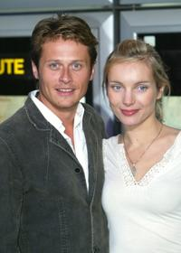Roman Knizka and Nadja Uhl at the German premiere of