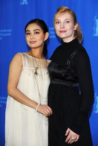 Aya Irizuki and Nadja Uhl at the photocall of