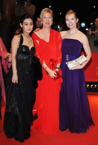 Aya Irizuki Doris Dorrie and Nadja Uhl at the premiere of