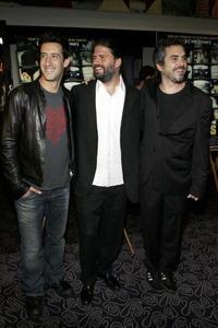 Jose Maria Yazpik, Director Sebastian Cordero and Producer Alfonso Cuaron at the premiere of