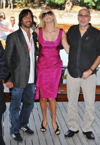 Jose Maria Yazpik, Charlize Theron and Director Guillermo Arriaga at the photocall of