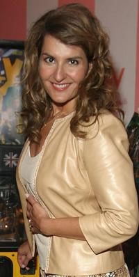 Nia Vardalos at the Olympus Fashion Week Spring 2005.