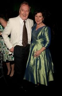 Robert Hardy and Imelda Staunton at the after party of the London premiere of