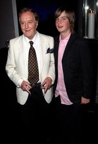 Robert Hardy and his grandson at the after party of the London premiere of