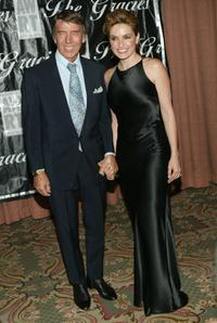 Mickey Hargitay and his daughter Mariska Hargitay at the 2004 American Women in Radio and Television Gracie Allen Awards gala.