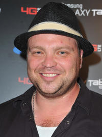 Drew Powell at the Samsung and Verizon Launch of The Samsung Galaxy Tab 10.1 in California.