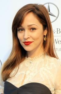 Autumn Reeser at the Mercedes Benz Fashion Week.