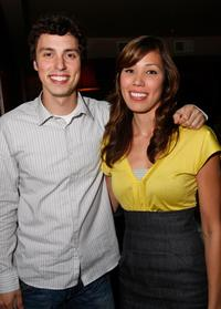 John Frances Daley and Michaela Conlin at the Fox party for the 2008 Comic Con at Pasqualle.