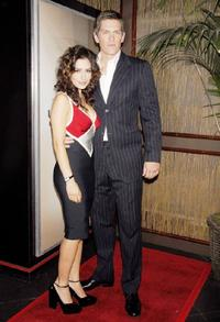 Sarah Shahi and Steve Howey at the premiere of