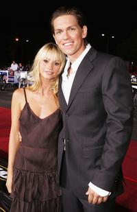 Cameron Richardson and Steve Howey at the premiere of