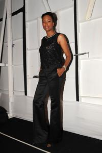 Aisha Tyler at the Badgley Mischka Fall 2008 fashion show.