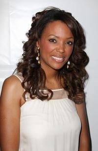 Aisha Tyler at the Rebecca Taylor Fall 2008 fashion show.