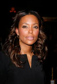 Aisha Tyler at the Cynthia Rowley Fall 2008 fashion show.