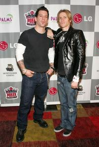 Keith Nelson and Josh Todd at the LG All-Star Poker Showdown and Party.
