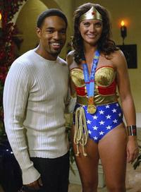 Jason Winston George and Olympic Volleyball Gold Medal winner Misty May at the tapeing of the