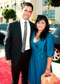 Daniel Pino and Lily at the 2008 ALMA Awards.
