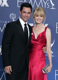 Daniel Pino and Kathryn Morris at the 59th Annual Primetime Emmy Awards.