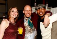 Heather Juergensen, Charles Herman-Wurmeld and Harold House Moore at the after party of the premiere of