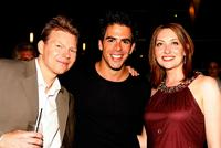 Kevin Hench, Eli Roth and Heather Juergensen at the after party of the premiere of