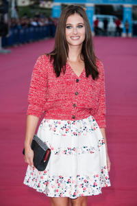 Melanie Bernier at the Paris premiere of