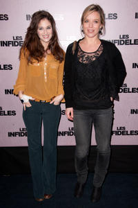 Melanie Bernier and Marie Guillard at the Paris premiere of