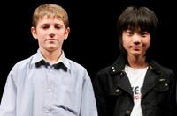Barney Clark and Ryunosuke Kamiki at the 18th Tokyo International Film Festival.