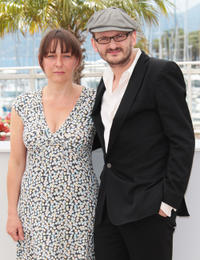 Steffi Kuhnert and Milan Peschel at the photocall of