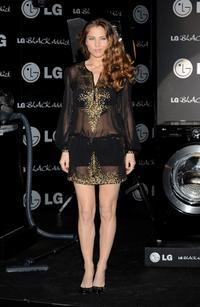 Elsa Pataky at the launch of new LG Black Addict Collection.