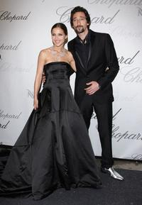 Elsa Pataky and Adrien Brody at the Chopard Trophy Award during the 61st International Cannes Film Festival.