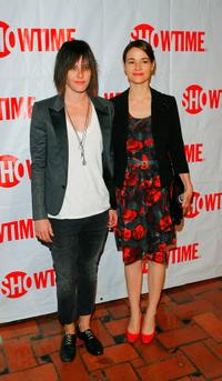 Katherine Moennig and Leisha Hailey at the CBS and Showtime Network's Winter Television Critics Association Party.