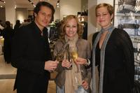 Roman Knizka, Dorkas Kiefer and Stefanie Mensing at the opening of the new Marc O'Polo store.