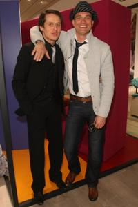 Roman Knizka and Ralf Bauer at the opening of the new Marc O'Polo store.