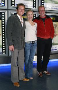 Roman Knizka, Nadja Uhl and Director Ben Sombogaart at the German premiere of