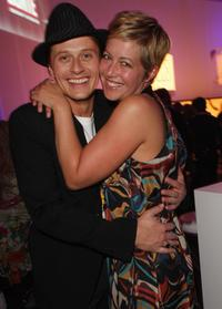Roman Knizka and Stefanie Mensing at the after party at New Faces Award.