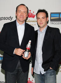 Kevin Spacey and Dana Brunetti at the re-launch of Triggerstreet.com.