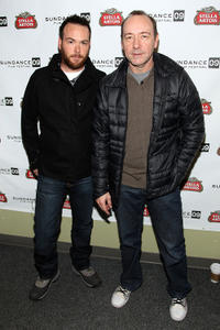 Dana Brunetti and Kevin Spacey at the Stella Artois Short Film Project party during the 2009 Sundance Film Festival.